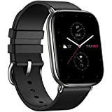Zepp E Square Smart Watch Health and Fitness Tacker with Heart Rate, SpO2 and REM Sleep Monitoring, Stainless Steel Body, Lea