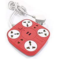 Axmon Extension Cord with 2 USB Charging Ports and 6 Socket - 10 Amp Heavy Duty Multiplug Extension Board for Multiple…