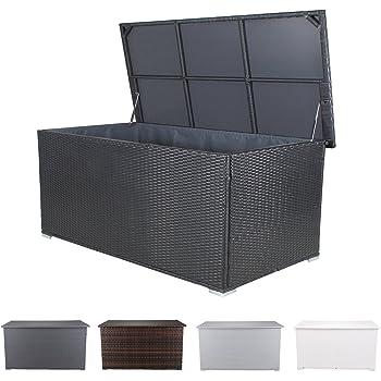 xxl kissenbox wasserdicht polyrattan 950l anthrazit auflagenbox gartenbox gartentruhe. Black Bedroom Furniture Sets. Home Design Ideas
