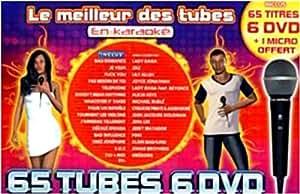 Le Meilleur Des Tubes En Karaoké : 2010 Coffret 6 DVD 65 Tubes + 1 Micro