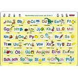 Fragenbär-Mini-Lernposter: Buchstaben und Laute von A bis Z (in der Schulbuch-Druckschrift) S 45 x 32 cm: stabiler Karton, fo