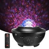 Delicacy Proiettore a Luce Stellare, Proiettore Stellato Bluetooth, LED Luce Rotante Nebulosa con Timer e Telecomando, per Ba