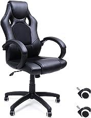 SONGMICS Racing Sportsitz Bürostuhl Schreibtischstuhl,Atmungsaktiv und bequem,Ergonomischer,PU