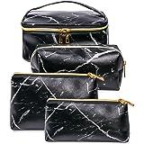 SunTop 4 Pezzi Borse da Toilette, make up borse da viaggio, Beauty Case da Viaggio, Cosmetici Trucco Pochette da Toilette Org