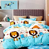 VYBBA Microfiber Reversible Comforter / AC Blanket for Winter / Duvet / Quilts , Double Bed King Size (Blue & White, 200…