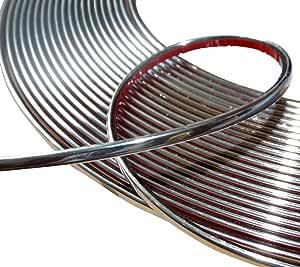 Aerzetix 4mm 15m Klebeband Chrom Nickel Silber Farbe Küche Haushalt