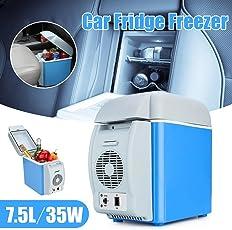 Mini Refrigerator Portable Fridge 12V 6L Auto Mini Car Travel Fridge ABS Multi-Function Freezer Warmer & Cooling