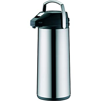 Shef Edelstahl Pump Isolierkanne Thermoskanne Airpot für Tee