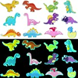 24 Pieces Shoes Charms Glowing Dinosaurs Shape Shoes Charms Glow in The Dark Cartoon Dinosaurs Shoe Charms for Clog Shoe Wris