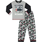 The PyjamaFactory - Pijama para niño (9 a 16 años), color gris y rojo