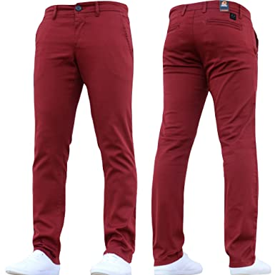 6c651417 Mens Designer Trousers Chinos Stretch Skinny Slim Fit Jeans