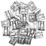Armaturenbrett Verkleidung HalteKlammern Metall Auto Silber sourcing map 25 STK