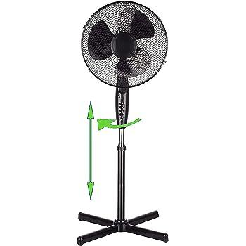 DAEWOO Standventilator Ø 40 cm 3 Geschwindischkeit Windmaschiene Oszillierend