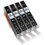 Go Inks C-551Bk - Cartucce di inchiostro della stampante per sostituire la Canon CLI-551Bk per l'uso con le stampanti…