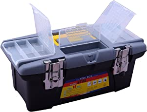Novicz 1220 Plastic Tool Box with Organizer (Multicolor)