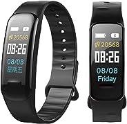 Piushopping Smartwatch Orologio Fitness Tracker Uomo Donna Pressione Sanguigna Smart Watch Cardiofrequenzimetro da Polso Con