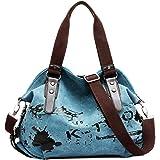 VADOO Große Canvas Tasche Handtaschen Damen Umhängetasche Damen Canvas Umhängetasche Damen