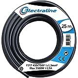 Electraline 13072 voertuigkabel FS17, deel 1 x 1,5 mm², zwart, 25 m