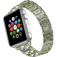 TOWOND Cinturini per orologi con diamanti per Apple Watch 40mm 38mm 42mm 44mm, cinturino Gioielli con strass di…