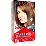 REVLON Color Silk Hair Color 3D Color Gel Technology with Keratin (Light Golden Brown 5G)