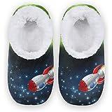 linomo Universe Space Planet - Zapatillas de avión para mujer, para casa, para interiores, para casa, para el dormitorio, cal