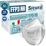 25 Mascherine FFP3 Certificate CE italia Made in Italy BFE ≥99% | PFE ≥99% Mascherina ffp3 SANIFICATA e sigillata singolarmen