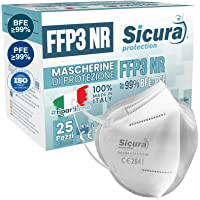 25 Mascherine FFP3 Certificate CE italia Made in Italy BFE ≥99% | PFE ≥99% Mascherina ffp3 SANIFICATA e sigillata…