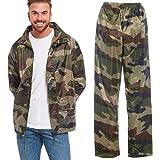 Arctic Storm Waterproof Rain Suit Hooded Jacket & Trousers Set