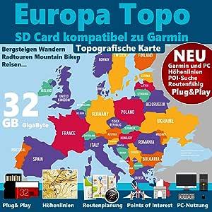 400 700 750t Europa v.20 topo mapa adecuado para Garmin Oregon 300