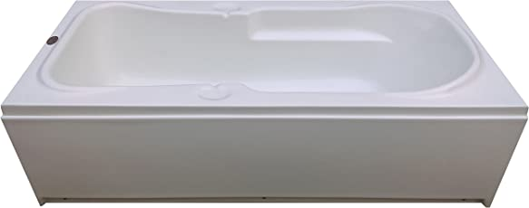 MADONNA Rex Acrylic Bath Tub with Front Panel (White)
