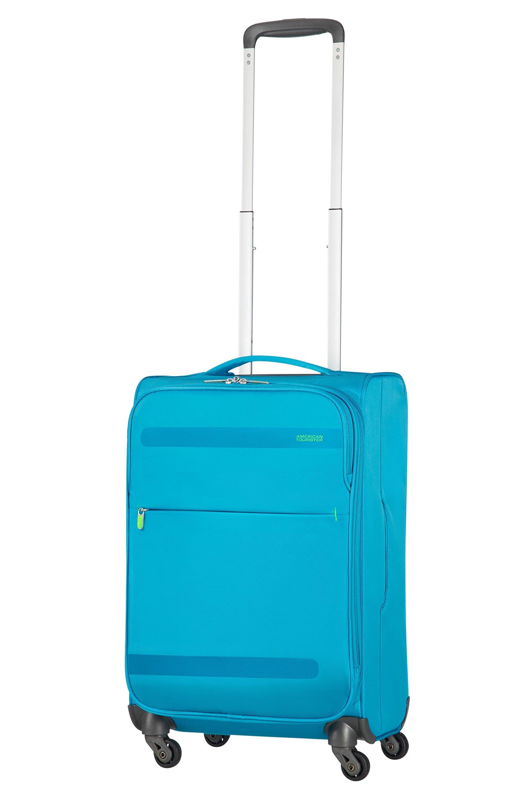 71wNk6xOh6L - American Tourister Herolite Maleta, Azul (MIDNIGHT BLUE), S EXP (55cm-42L)