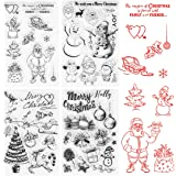 Wishstar Tampon Decoration Noel, Tampon Silicone Transparents, 4PCS Tampon Scrapbooking Clear Noël, Clear Stamp en Silicone p