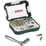 Bosch 2607017322 Zestaw Bitów i Grzechotki, 26 Elementów