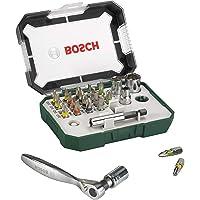 Bosch Set da 26 Pezzi di bit avvitamento e cricchetti, qualità dura, accessori trapano avvitatore e avvitatore