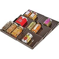 mDesign support à épices pour tiroir – range épice extensible jusqu'à 36,8 cm, de 20 cm à 36,8 cm – présentoir à épice…