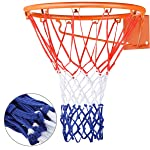 Basketball Net Replacement Hoop Net for All Weather, Fits Standard Indoor or Outdoor Red/White/Blue