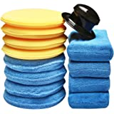 SPTA 13 Stks Auto Polijsten Sponzen Reiniging Wax Sponzen Microfiber Spons Wax Applicator Reiniging Pad Geschikt voor het Rei