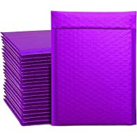 Switory 50pcs A5 15.3cmx26.9cm Poly Bubble Mailers Padded Envelopes Bubble Lined Poly Mailer Self Seal Teal for Packaging Purple