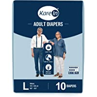 """Kare In Adult Diapers Large Size 10 Count, Waist Size 101-139cm (40""""- 55"""")"""