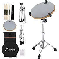 Donner Drum Practice Pad with Snare Drum Stand Kit, Portable Special Backpack for Drum Training