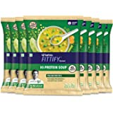 Saffola FITTIFY Gourmet Saffola FITTIFY Hi Protein Instant Soup with Multigrain Crunchies- Italian Mix Veg (Pack of 8)