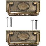 FUXXER® - 2x antieke meubelgrepen inklapbaar, schuifladegrepen, kastgrepen, klapgrepen voor kisten, kasten, commodes, antiek