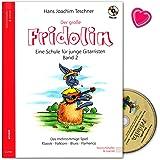 Der große Fridolin Band 2 - Gitarrenschule mit CD und bunter herzförmiger Notenklammer - Verlag Heinrichshofen N2700…