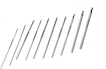 Vardhman Aluminium Pony Crochet Hooks (13cm , 2.5mm, Size No 6 to 14) - Pack of 10 Knitting Pin
