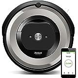 iRobot Roomba e5154 Robot Aspirapolvere, Sistema ad Alte Prestazioni con Dirt Detect e Spazzole Tangle-Free, per Pavimenti e Tappeti, Adatto per i Peli degli Animali Domestici, Wi-Fi, Argento