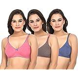Imsa Moda Women's Seamless Non Padded Non Wired Bra Pack of 3