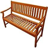 SAM Akazie-Sitzbank New Jersey, Massive Gartenbank für bis zu 2 Personen, mit Armlehnen, für Terrasse Balkon, FSC® 100%