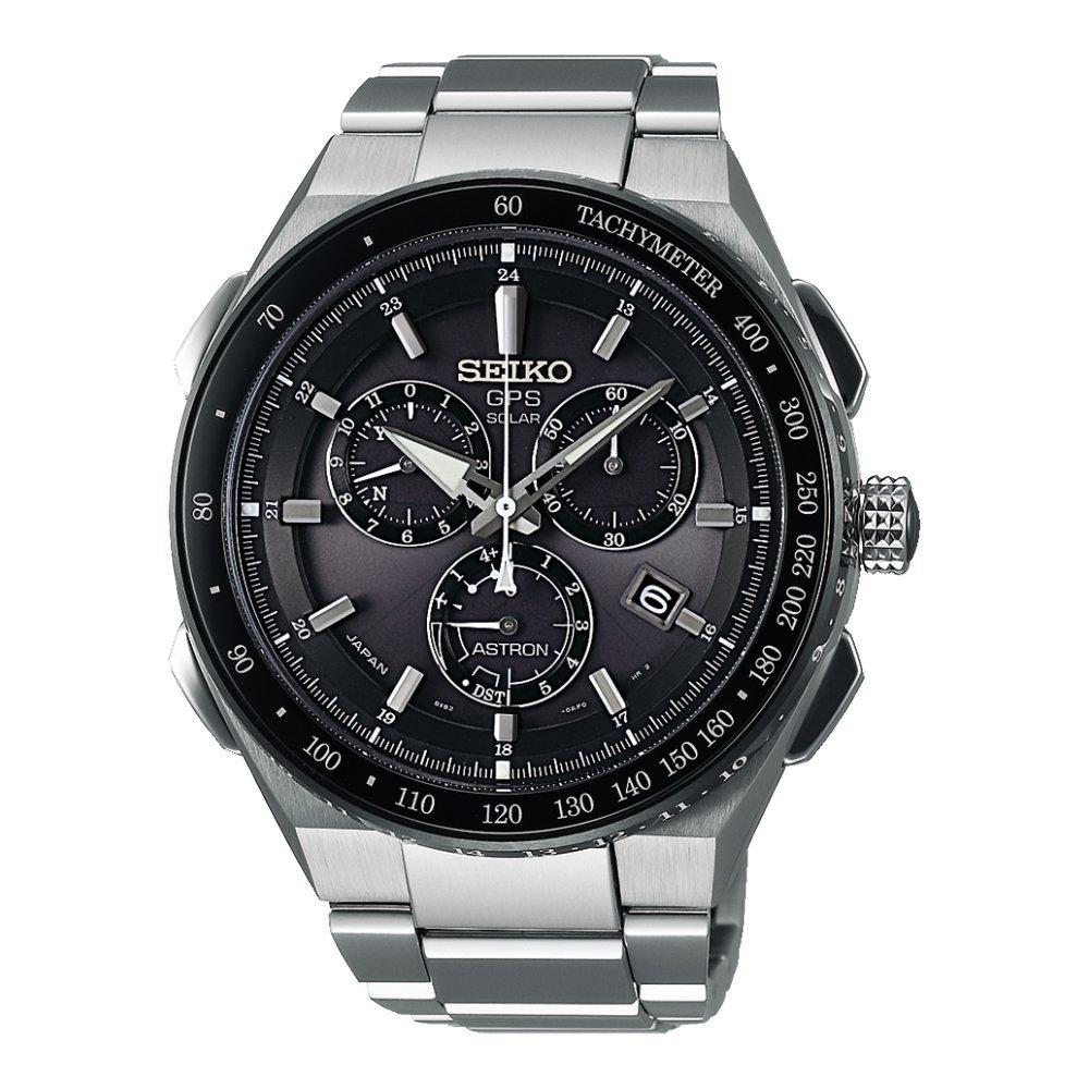 nueva estilos 8f5ef 782fd Seiko Astron GPS Solar Chronograph SSE129J1 Reloj elegante para hombres  Recepción de GPS para hora & huso horario
