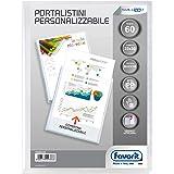 Favorit 100460329 - Portalistino Personalizzabile 60 Buste, 22 x 30 cm, Trasparente