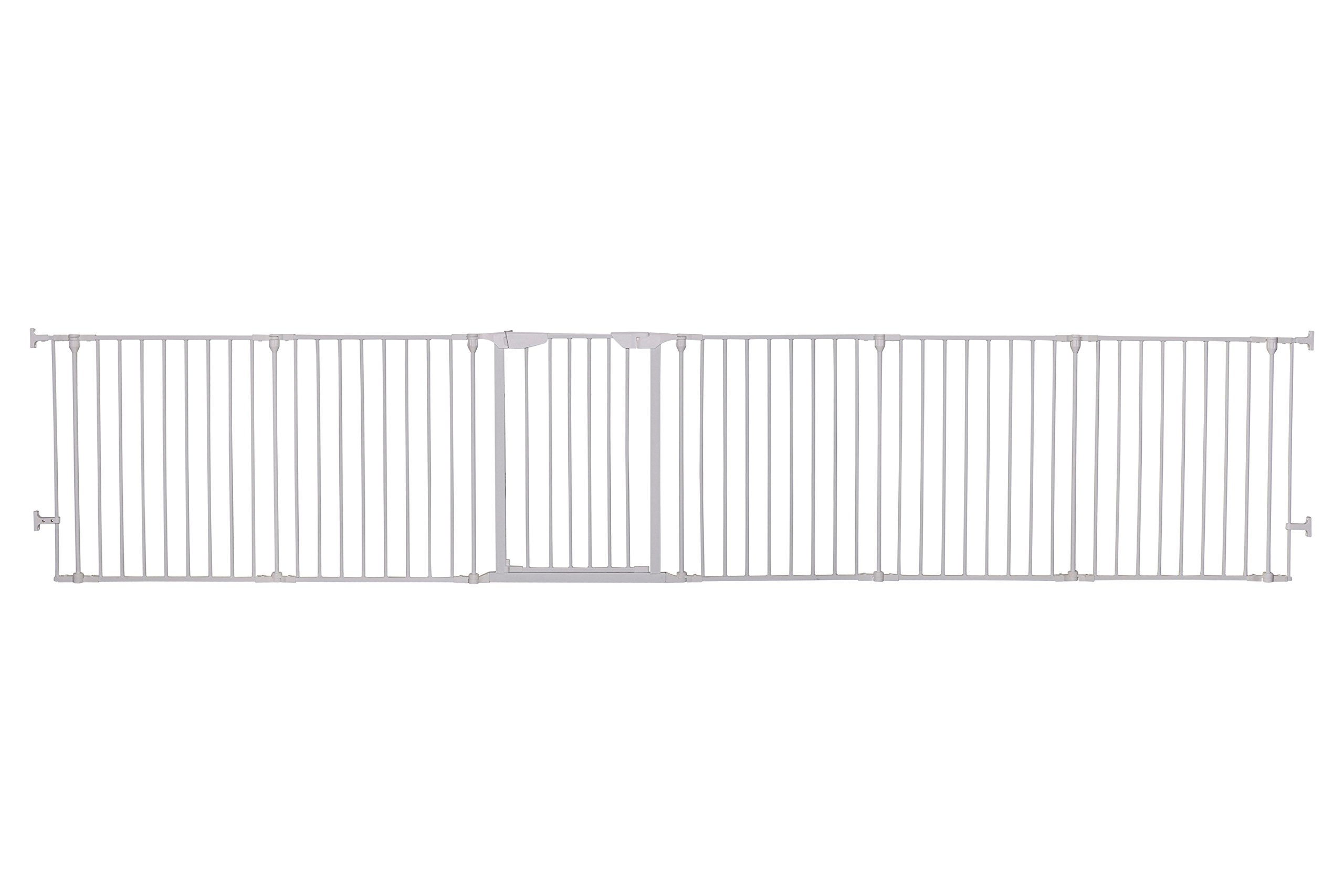 Dreambaby Mayfair Converta 3-in-1 Metal Play-Pen (85.5 - 375 cm) Dreambaby 6 modular panels including convient walk-through Gate 3-in-1 (play-pen, fireplace barrier, wide barrier Gate) Smart stey-open feature and optional one way stopper 3